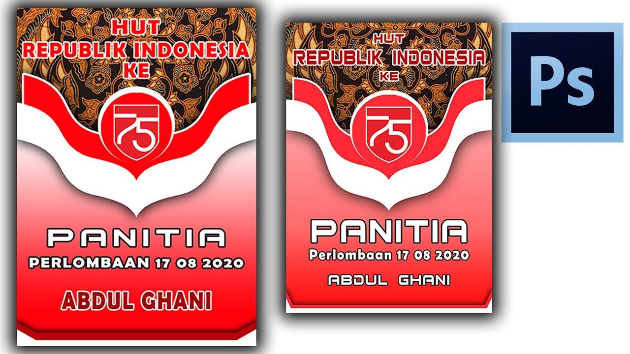 Desain Name Tag Panitia 17 Agustus Ke 75