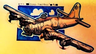 How to draw a B 17  flying fortress