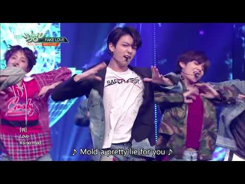 BTS (방탄소년단) - FAKE LOVE [Music Bank HOT STAGE / 2018.06.08]