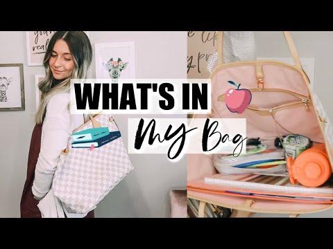 WHAT IS IN MY TEACHER BAG   Louis Vuitton Damier Azur Neverfull MM