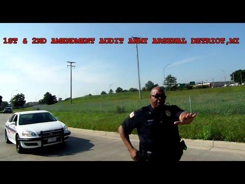 1st & 2nd Amendment Audit- Army Arsenal Detroit, Michigan