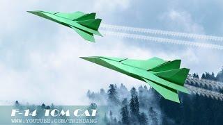 Come fare un aeroplano di carta che vola | F-14 YouTube Videos