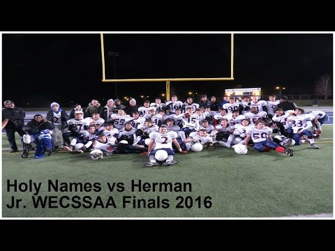 Holy Names vs Herman Jr. WECSSAA Finals 2016 (Full Game)