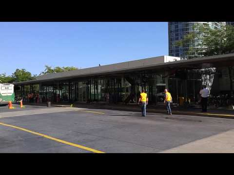 Crashed Go Bus Removal From Union Station