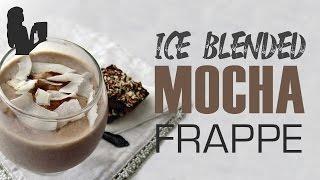 Fantastic Iced Blended Mocha Frappe recipe made using a Vitamix or Blendtec commercial blender