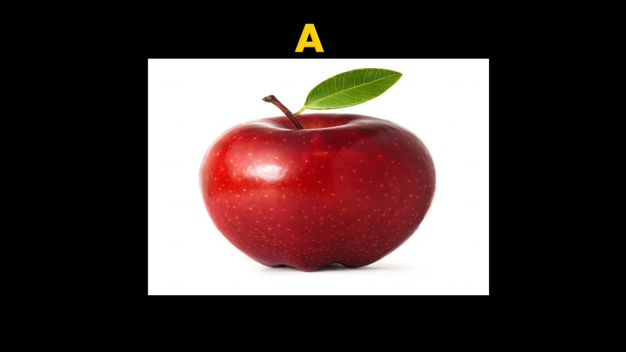 A Z letters with demo of fruits and ve ables for each letter