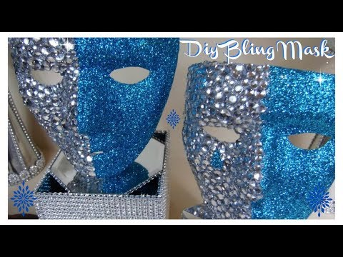 DIY - HIGHLY REQUESTED BLING MASK (EASY) BLING QUEEN