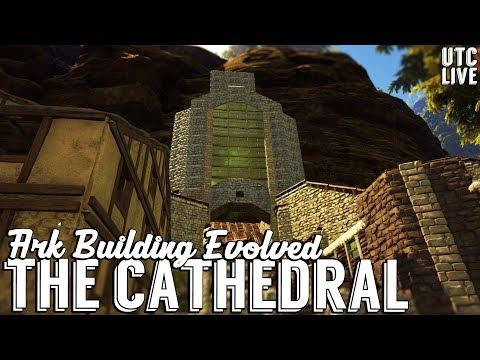 Ark Building Evolved Live :: Golden Windowed Cathedral Build :: Patreon Live Stream :: UniteTheClans