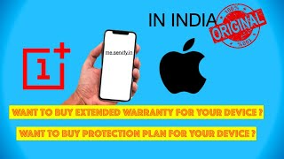 EXTENDED WARRANTY FOR APPLE AND ONE PLUS - AUTHENTIC IN INDIA