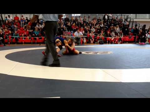 2015 Junior National Championships: 55 kg Laurence Camirand vs. Indhyra Linares-Helfrich