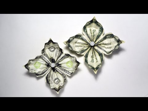 Easy And Beautiful Money FLOWER  | Origami Dollar Tutorial (NProkuda)