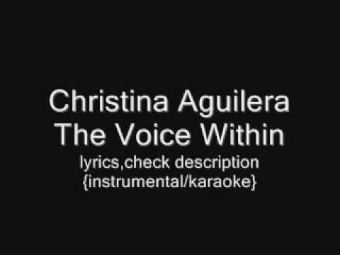 Christina Aguilera - The Voice Within {instrumental/karaoke}