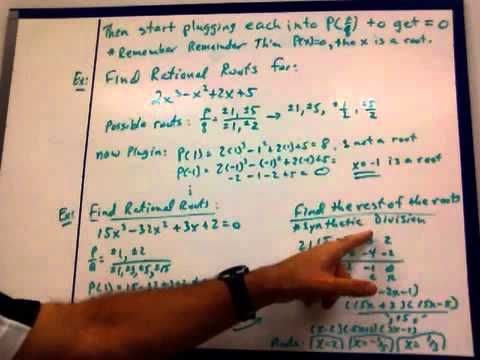 5 5 Theorems About Roots Of Polynomial Equations Youtube
