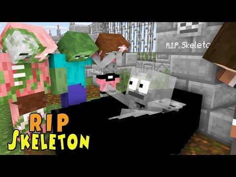 Monster School | RIP SKELETON | Monster School