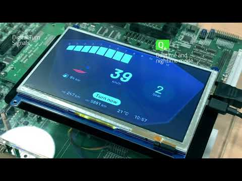Qt for MCUs: Motorcycle Instrument Cluster on Renesas RH850 microcontroller {showcase}