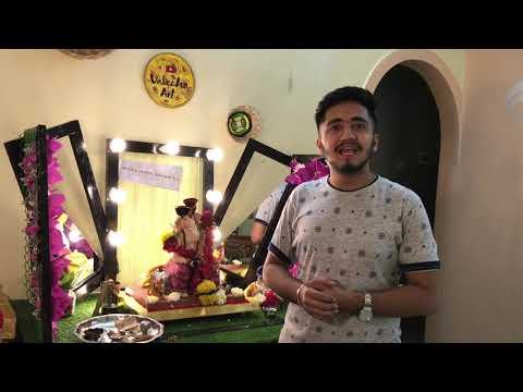 Gym theme Ganpati Decoration Idea for Home 2018 / GYM Theme / Diy Decoration