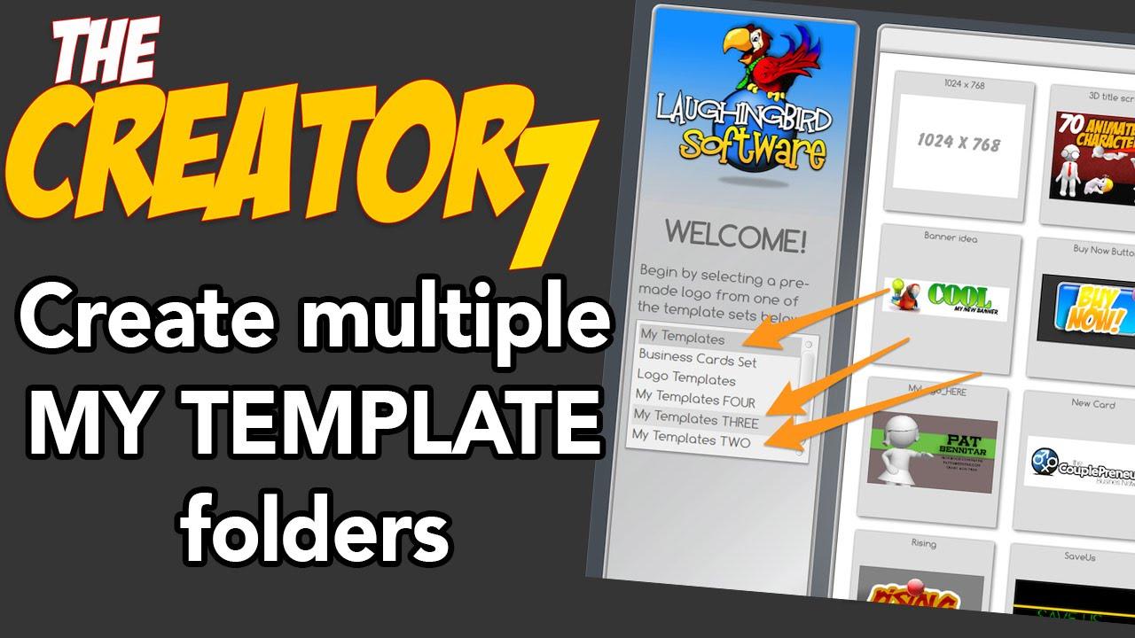 The Logo Creator My Templates Trick YouTube - Logo creator templates