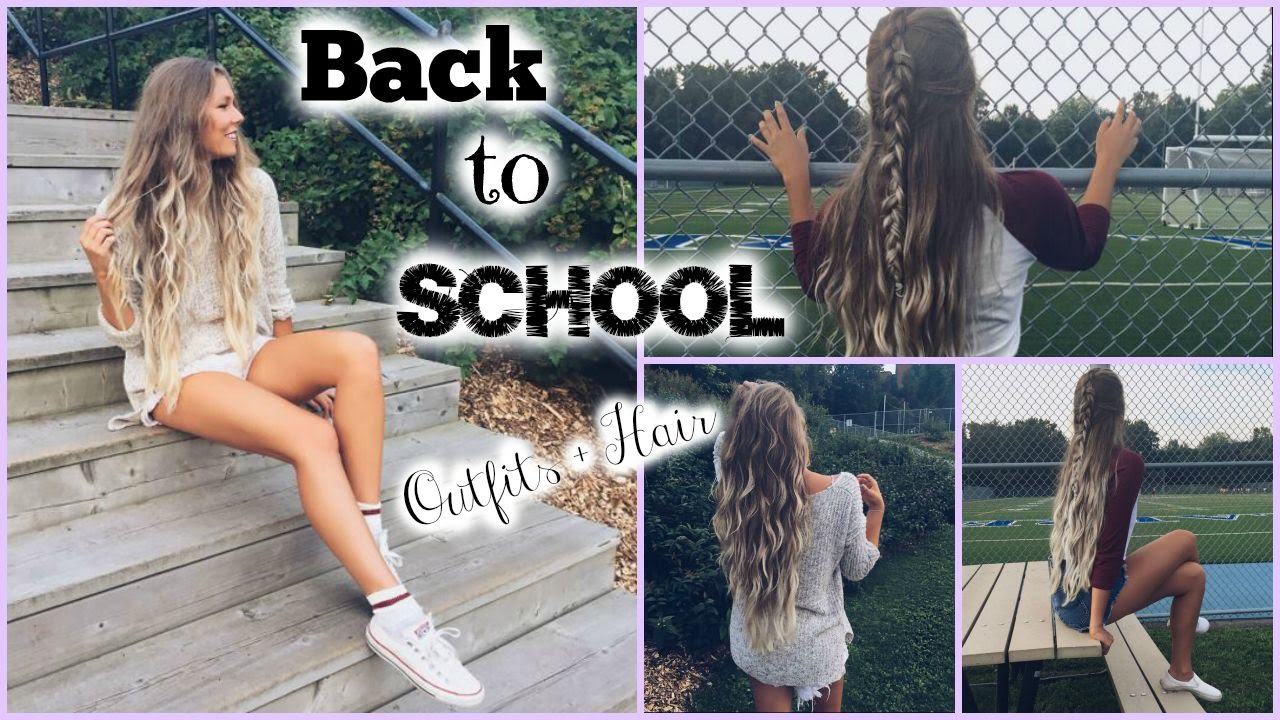 Back To School Cute Outfits Quick Amp Easy Hair YouTube