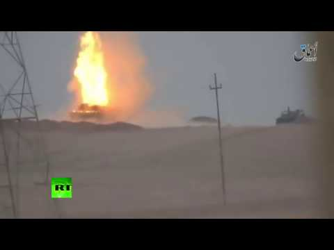 RAW: Iraqi M1 Abrams tank hit by ISIS Kornet guided missile near Mosul