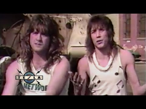TESLA - Interview News Clip MTV HeadBangers Ball (April 18 1987)