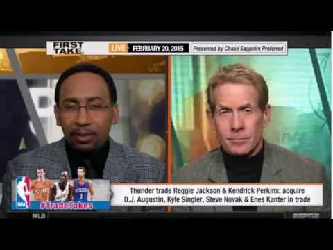 ESPN First Take   Reggie Jackson to Detroit Pistons, Thunder acquire D J  Augustin, Steve Novak