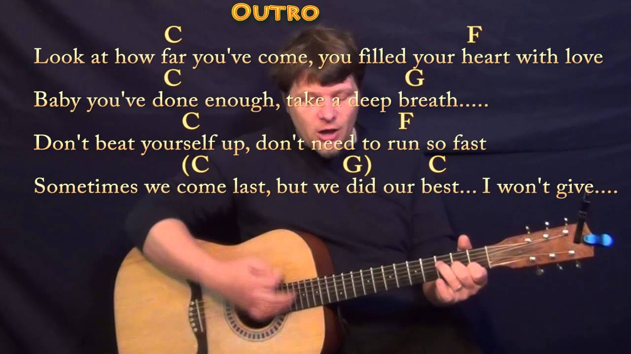 Try Everything Shakira Strum Guitar Cover Lesson In C With Chords