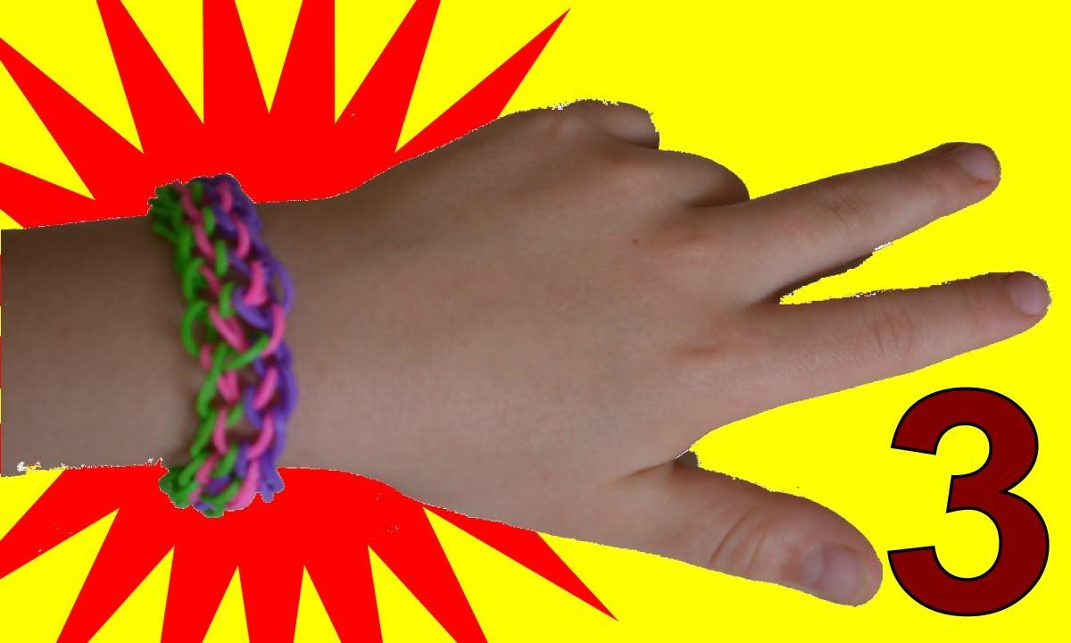 haute qualité section spéciale style limité comment faire des bracelets avec des élastiques Triple sans machine en  francais rainbow loom