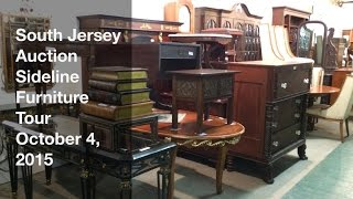 October 4, 2015 - Sideline Furniture Tour - South Jersey Auction