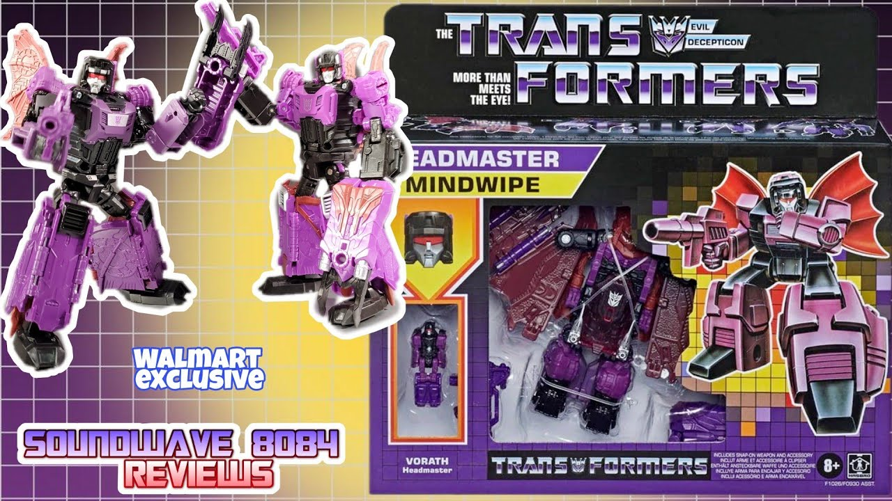 Transformers Headmasters Mindwipe Reissue Review by Soundwave 8084