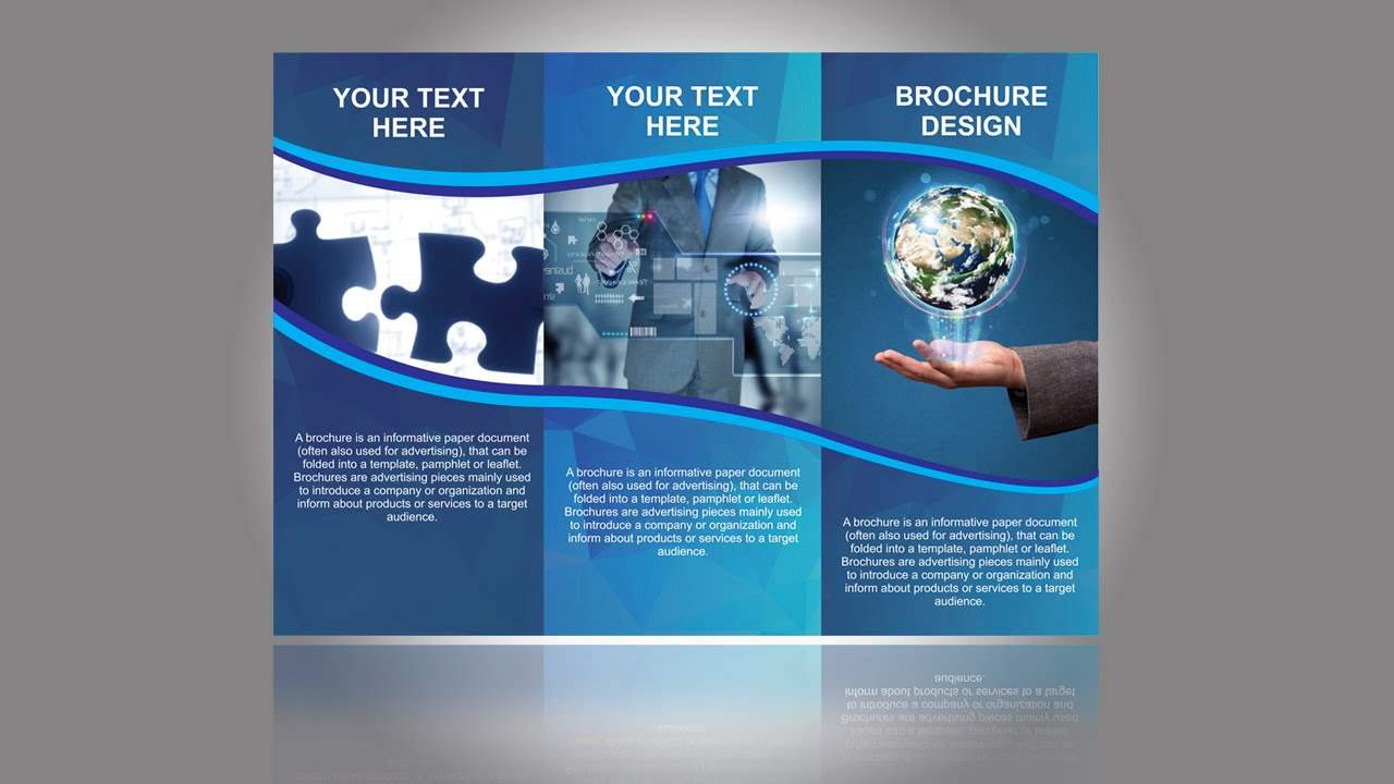 how to design a brochure - brochure design in coreldraw tutorial part 1 youtube