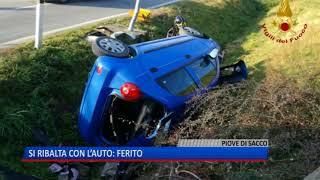 TG (22/01/2018) - SI RIBALTA CON L'AUTO: FERITO