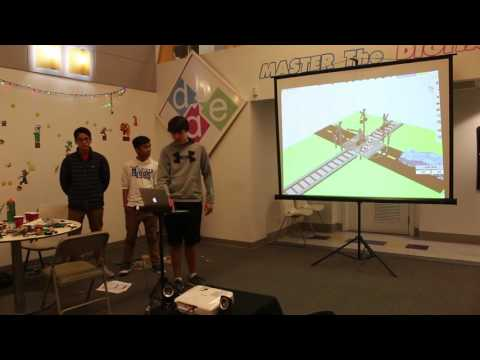 Mamaroneck High School students were among those designing safer railroad crossings during Digital Arts Experience's Teen RR Safety challenge.