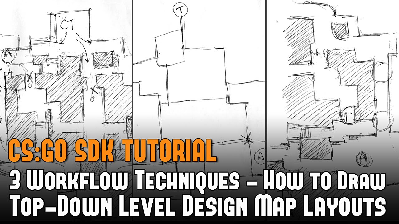 Cs Go 3 Workflow Techniques How To Draw Top Down Level Design Map