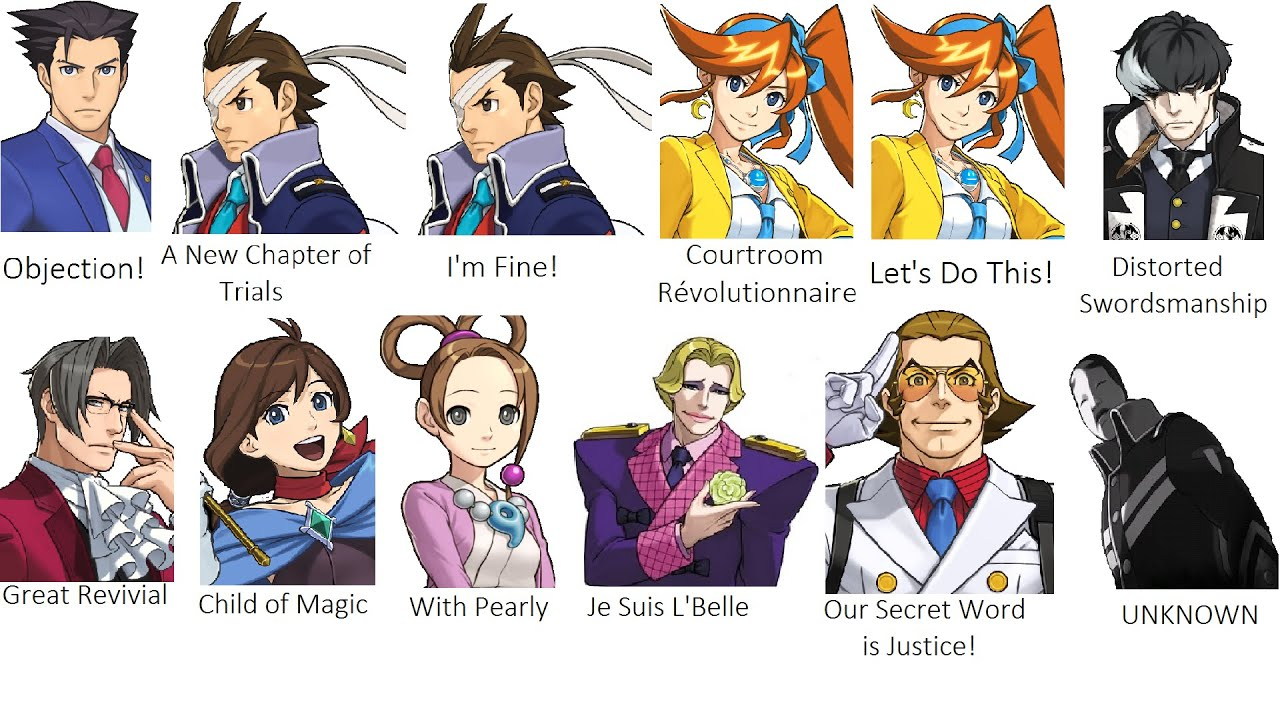Phoenix Wright Ace Attorney Dual Destinies All Character