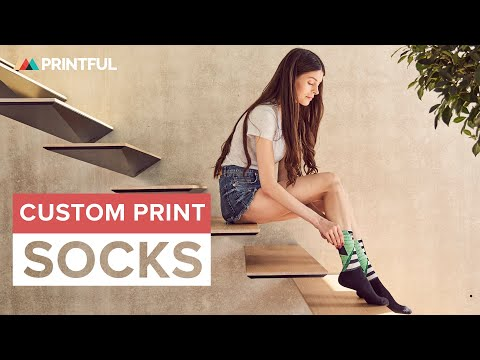 Custom Printed Socks | Sublimation Printing (Printful Showcase)