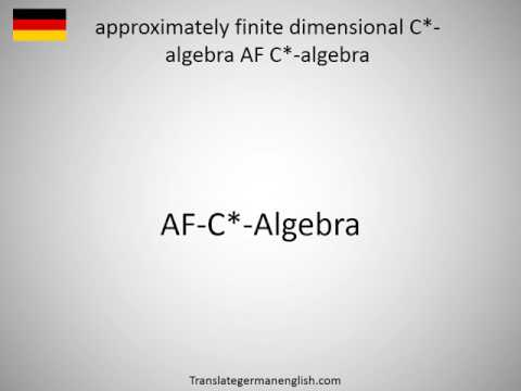 How to say approximately finite dimensional C*-algebra AF C*