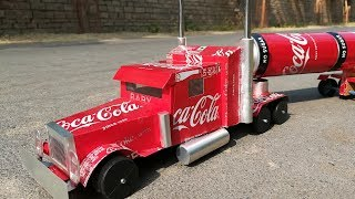 how To Make Coca Cola Truck Made With Aluminium Cans And DC Motor