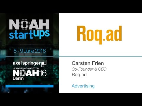 Roq.ad - NOAH16 Berlin Startup Competition