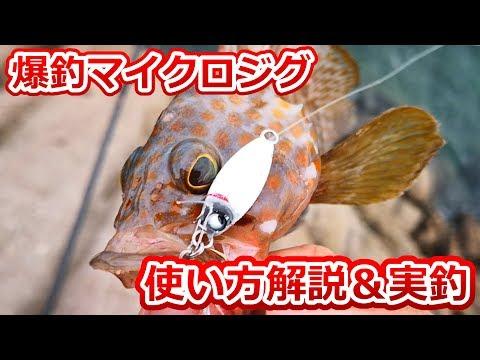 簡��マイクロジグ�使�方�実際�釣り��ら解説�����