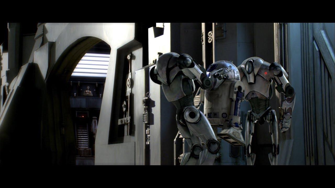 Генерал Гривус. R2-D2 против дроидов. HD - YouTube