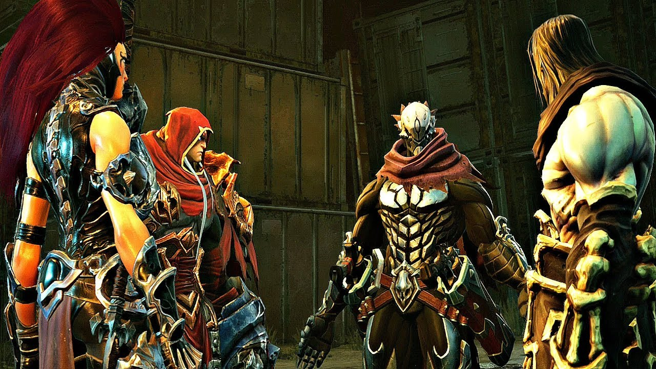 Darksiders 3 - All Four Horsemen Reunite (Full Cutscene) War, Death, Fury &  Strife