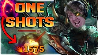 Dark Harvest... WTF RIOT?? RENGAR ONE SHOTS ANYTHING NOW! DARK HARVEST RENGAR JUNGLE GAMEPLAY