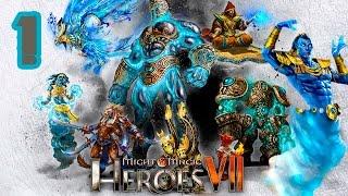 Прохождение Might and Magic Heroes 7 [КАРТА: ПУСТОШИ] #1 - Сальмир