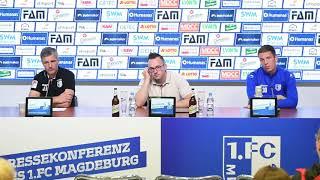 Pressekonferenz vor dem Spiel 1. FC Heidenheim gegen 1. FC Magdeburg