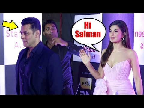 Salman Khan IGNORES Ex Girlfriend Jacqueline Fernandez At Star Screen Awards 2018