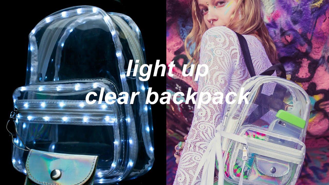 DIY Light Up Clear Backpack