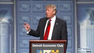 Donald Trump Economics Plan full speech in Detroit, MI 8/8/16