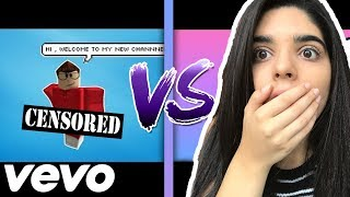 REACTING TO ROBLOX MUSIC VIDEOS! WHOSE MUSIC VIDEO IS BETTER?