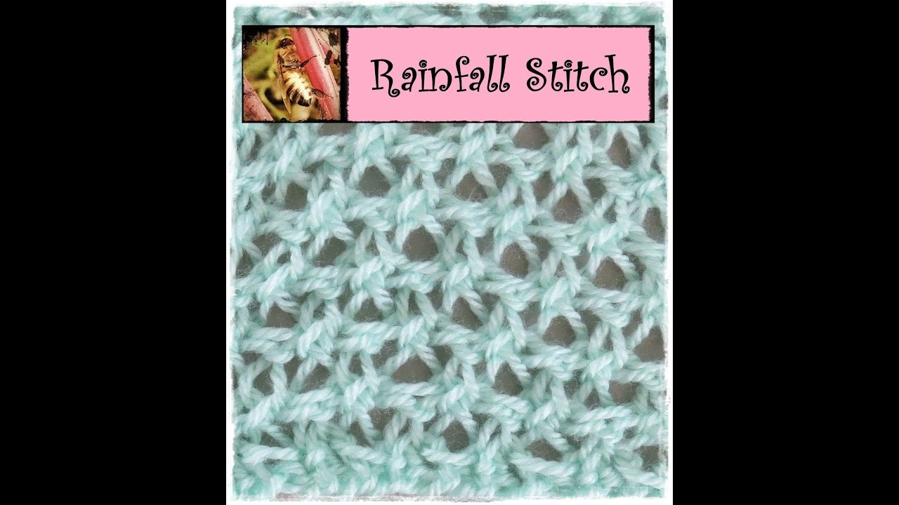 Knitting Last Stitch Too Loose : Loom Knitting Rainfall Stitch - YouTube