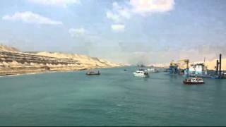 New Suez Canal: The scene of the drill June 15, 2015